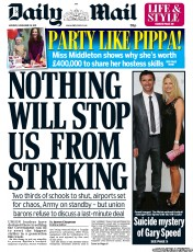 Daily Mail lies about strikes