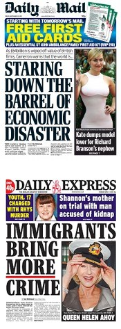 Mail & Express fearmongering